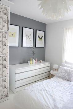 quarto cinza, pintar parede lateral do quarto