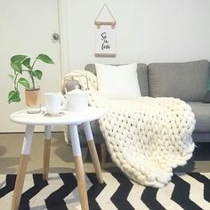 // SO IN LOVE // With this gorgeous space once again by one of my lovely insta friends @myhomestyle89. This is just what we need this morning A warm chunky knit and a hot tea to keep us warm. (In my case a few coffees as we have been up since 4) Happy Tuesday lovelies x [Pictured: So in love Print, Available online, see link in bio @myhomestyle89 ]