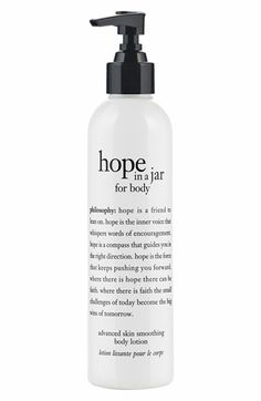 philosophy 'hope in a jar for body' advanced skin smoothing body lotion available at #Nordstrom