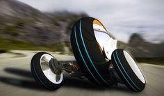3X3 Phase 2.0 Three-Wheeled Futuristic Vehicle By Arturo Arino