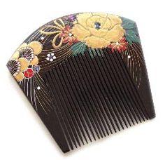 Items similar to Free Shipping Vintage Japanese Black Lacquer Kushi (Comb) on Etsy