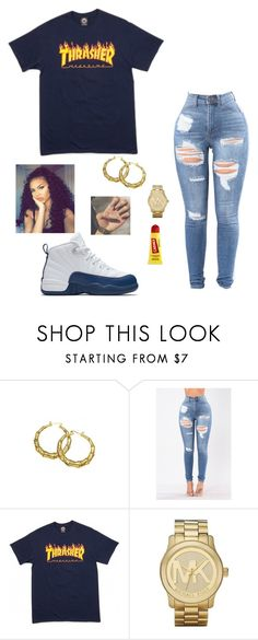 """""""Random #72"""" by zaddyshai ❤ liked on Polyvore featuring Michael Kors, NIKE and Carmex"""