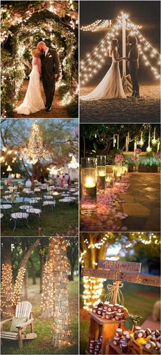 Combine fairylights wedding decor ideas