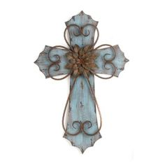 Blue Veracruz Cross Plaque | Kirklands