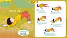 L'arc-en-ciel petit yoga de pomme d'api