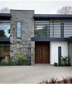 design your life Modern Exterior House Designs, Black House Exterior, Modern House Design, Dream House Interior, Luxury Homes Dream Houses, Dream Home Design, Facade House, Architecture Design, House Styles