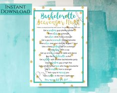 Bachelorette Scavenger Hunt Printable Template Bachelorette | Etsy