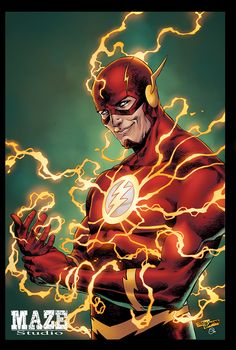 The Flash Barry Allen by Tirso Llaneta Flash Comics, Arte Dc Comics, Dc Heroes, Comic Book Heroes, O Flash, The Flash Art, Flash Characters, Flash Drawing, Copic