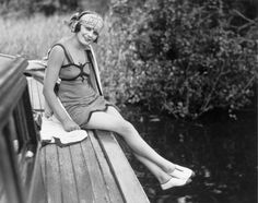 Woman in a bathing costume, c 1920s