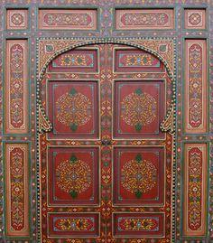 Door art... such gorgeous colours...