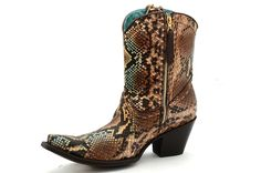 Corral Women's Python Short Top Fashion Boots -- Remarkable product available now. : Boots Shoes