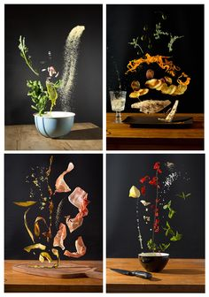 Photographer Turns Scrumptious Recipes into Colorful Photos of Floating Ingredients