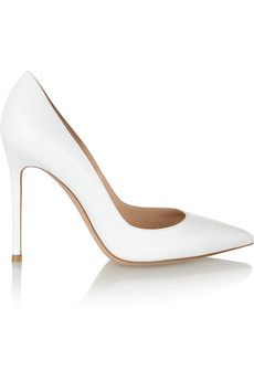Gianvito Rossi white leather pumps- spring wishlist