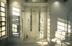 MAAX is a leading North American manufacturer of bathroom products: Bathtubs, Showers, Showers Doors, Tubs Showers and Medecine Cabinets Glass Vanity, Glass Bathroom, Budget Bathroom, Small Bathroom, Bathrooms, Bathroom Modern, Bathroom Ideas, Frameless Sliding Shower Doors, Luxury Shower