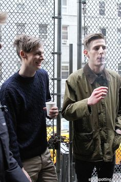 2 - Male Models smoking before Marc by Marc Jacobs