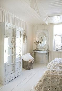 Shabby Chic Decor, Chic decor suggestion ref 6842638106 - The Best notes. home decor shabby chic bedroom unique tips imagined on this day 20190102 , White Bedroom Design, White Interior Design, Bedroom Designs, Design Room, Home Design, Style At Home, Home Bedroom, Bedroom Decor, Calm Bedroom