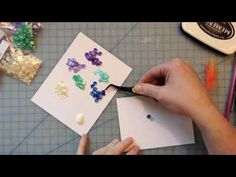 In this video I make a card with a panel of sequins behind a cut out image. The video features Neat & Tangled stamps and sequins. Sequin Cards, Art Journal Backgrounds, Neat And Tangled, Background Diy, Colored Pencil Techniques, Card Making Tips, Paper Crafts, Diy Crafts, Shaker Cards