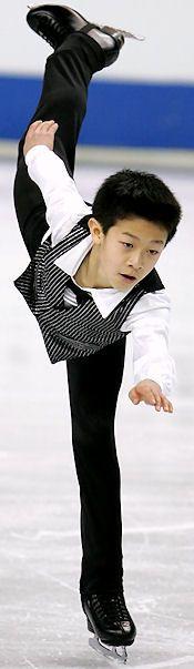 Nathan Chen won the novice men's title at the 2011 AT&T U.S. Figure Skating Championships.
