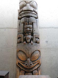 Haida totem pole by fboudville, via Flickr