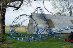 This Backyard Roller Coaster Will Blow Your Mind All The Bright Places Quotes, Cool Coasters, Roller Coasters, Theodore Finch, Jennifer Niven, Place Quotes, Rocky Horror Picture, Catacombs, Old Farm