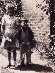 Pictured here with Noel Murphy ~ CIRCA 1942.