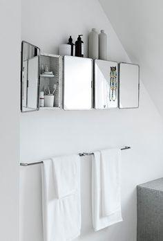 Easy & Creative Bathroom Mirror Ideas to Reflect Your Style Wc ideas Badkamer spiegel Vessel sink bathroom Gäste wc Badezimmer waschtisch Waschtisch diy White Bathroom, Bathroom Interior, Modern Bathroom, Small Bathroom, Bathroom Trends, Bathroom Renovations, Bad Inspiration, Bathroom Inspiration, Armoire Design