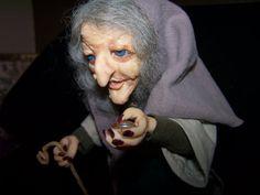 OOAK  Art Doll   Witch Hilda   Goth  fantasy  by Conniesgallery, $240.00