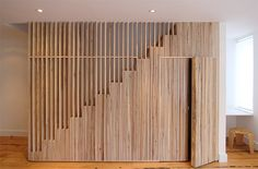Decorating Ideas for a Two-story Great Room Wooden Staircase Design, Wooden Staircases, Interior Stairs, Interior Architecture, Interior Design, Modern Stairs, Stair Storage, House Stairs, House Inside