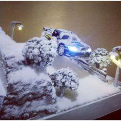 Diorama snow rally