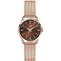 8d53e29b0f4 Henry London Harrow Mesh Strap Watch ( 173) ❤ liked on Polyvore featuring  jewelry