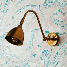 Jasmine Wall Light in Antiqued Brass Room Lights, Wall Lights, Ceiling Lights, Pooky Lighting, Diy Home Decor On A Budget, Decoration Design, Messing, Decorative Bells, Elegant