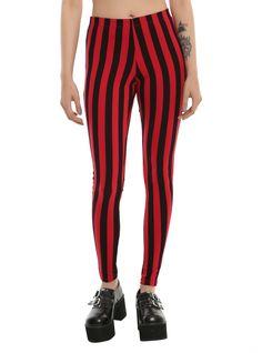34dad6b94cac1 Blackheart Red   Black Stripe Leggings