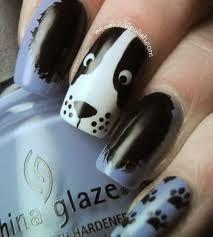 Αποτέλεσμα εικόνας για tutoriais de unhas de desenhos de cachorro