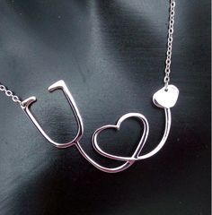 Medical Heart Stethoscope Necklace - Great for any Medical Professional! Get it here: http://theneedednecklace.com/products/medical-stethoscope-heart-collar-necklace