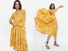 Vestidos Zara, Short Sleeve Dresses, Dresses With Sleeves, Floral, Summer Dresses, My Style, Fashion, Cute Dresses, Seasons