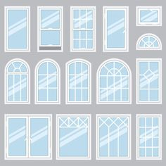 The type of window contributes to the overall style of a home, and the quality of a window contributes to its longevity. Consider window type, frame material, glazing, and method of installation when choosing new windows for the home. House Window Design, Window Grill Design, Door Design, House Design, House Window Styles, Arched Windows, Windows And Doors, Windows For House, Exterior Windows