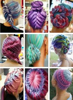 Cool hair styles but don't like all the colors