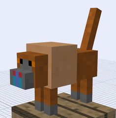 Minecraft Mob Idea - Baboon by RedPanda7.deviantart.com on @deviantART