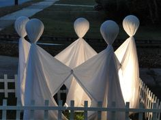 A bunch of old white sheets could easily be turned into nice Halloween ghost costumes or outdoor decorations.