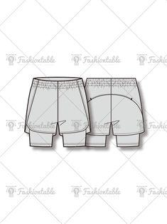 Women's Running Short Pants Fashion Flat Template Flat Drawings, Flat Sketches, Shorts Drawing, Kids Sportswear, Running Pants, Sport Pants, Drawing Templates, Technical Drawing, Fashion Flats