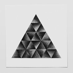 Pyramid 1, pencil drawing, wall art decor Date: 2014 September