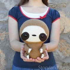 PATTERN: Cuddle-Sized Sloth Amigurumi, Crocheted Sloth Pattern, Sloth Toy Tutorial, PDF Crochet Pattern