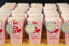 Popcorn baby shower treat holder, favor