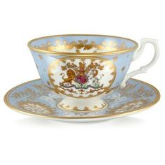 Georgian Teacup and Saucer Blue Royal Collection Trust Shop