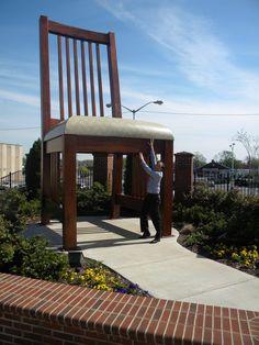 The Big Chair in Uptown Martinsville, Virginia