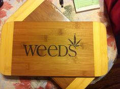 Weeds cutting board  on Etsy, $22.00 CAD