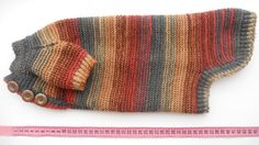 Striped  dog Sweater Clothes Hand Knitting  by HalinaRudzikava, $35.00