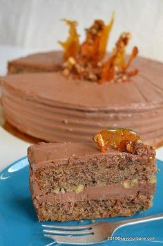 Tort Kugler cu nuca si ciocolata Savori Urbane Kugler Torta (5) Romanian Desserts, Romanian Food, Sweet Recipes, Cake Recipes, Dessert Recipes, No Bake Desserts, Just Desserts, Cake Cookies, Cupcake Cakes