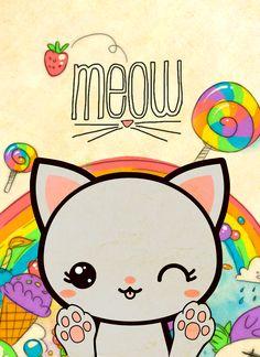 Capa de caderno Kawaii, gatinho super fofinho para usar com squishy