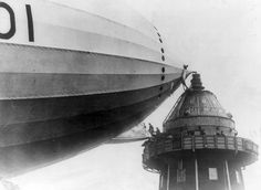 British M.P.s walk onto an airship gangplank, in Cardington, England, in the 1920s. (Library of Congress) From a wonderful collection of airship images by The Atlantic